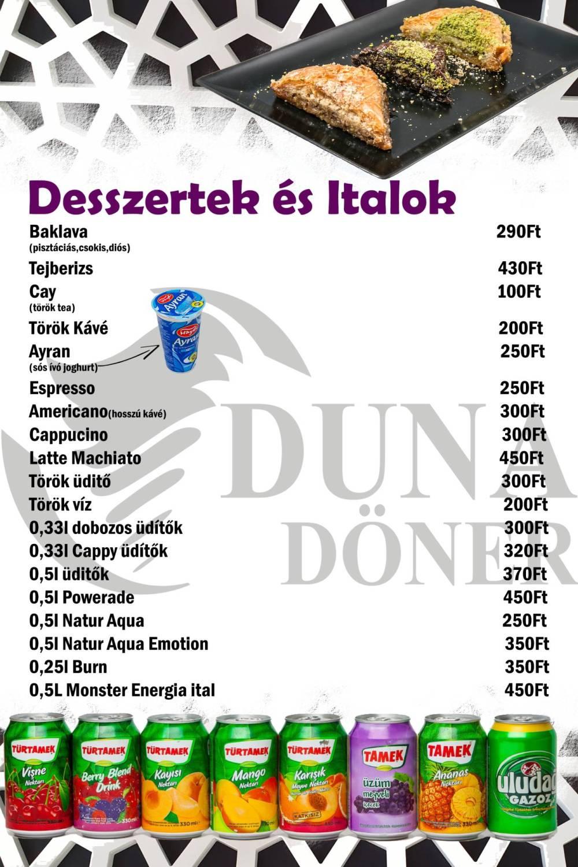 Duna Döner Menü